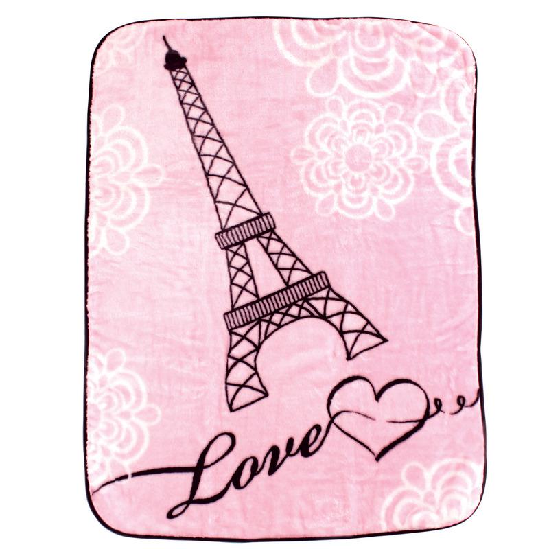 Luvable Friends Плед Париж, 76 х 101 см, цвет: розовый10503Привлекательный плед Париж для новорождённых торговой марки Luvable Friends. Плед привлекает внимание за счёт своего яркого и весёлого принта по всей поверхности. Мягкая плюшевая фактура приятна на ощупь, согревает малыша, создаёт комфорт и уют. По краям плед обшит атласной лентой. Такой плед необыкновенно практичен и многофункционален.
