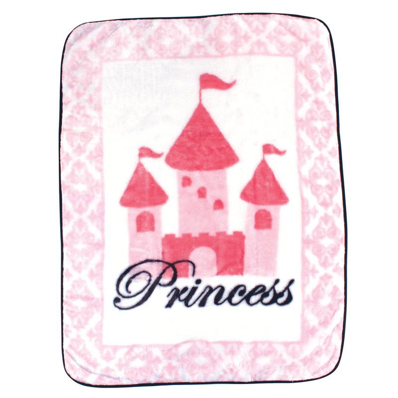 Luvable Friends Плед Замок (плюш), 76 х 101 см, цвет: розовый45845Привлекательный плед для новорождённых торговой марки Luvable Friends. Плед привлекает внимание за счёт своего яркого и весёлого принта по всей поверхности. Мягкая плюшевая фактура приятна на ощупь, согревает малыша, создаёт комфорт и уют. По краям плед обшит атласной лентой. Такой плед необыкновенно практичен и многофункционален.