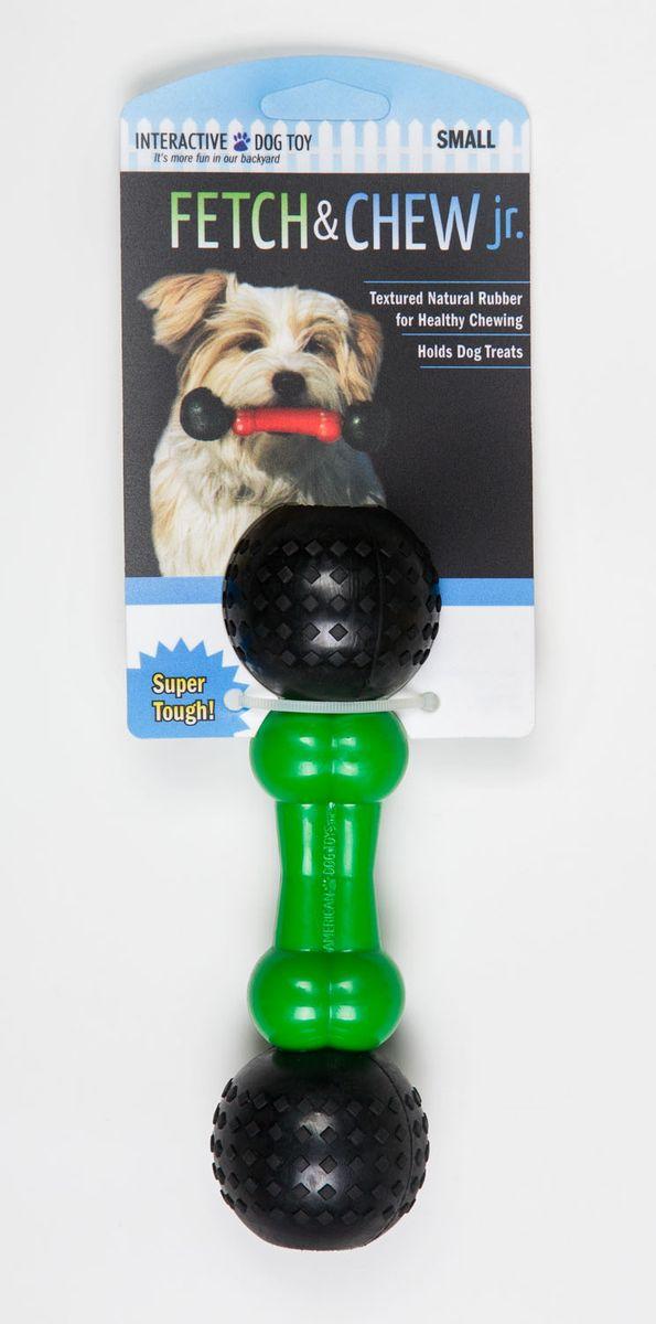 Игрушка для собак Fetch & Glow Jr. Светящаяся кость, цвет: зеленый, черный, длина 17,5 см6060Игрушка для собак Fetch & Chew Jr. Светящаяся кость, выполненная из натурального нетоксичного каучука, подходит для игр на улице в вечернее время, так как светится в темноте и ее хорошо видно в траве и листве. Игрушка Fetch & Chew Jr. Светящаяся кость - отличная альтерналива обычным палкам. Подходит для собак малых и средних размеров. Длина изделия: 17,5 см.