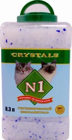 №1 Наполнитель для кошачьего туалета Crystals силикагель 8.3 л банка пластик 55326