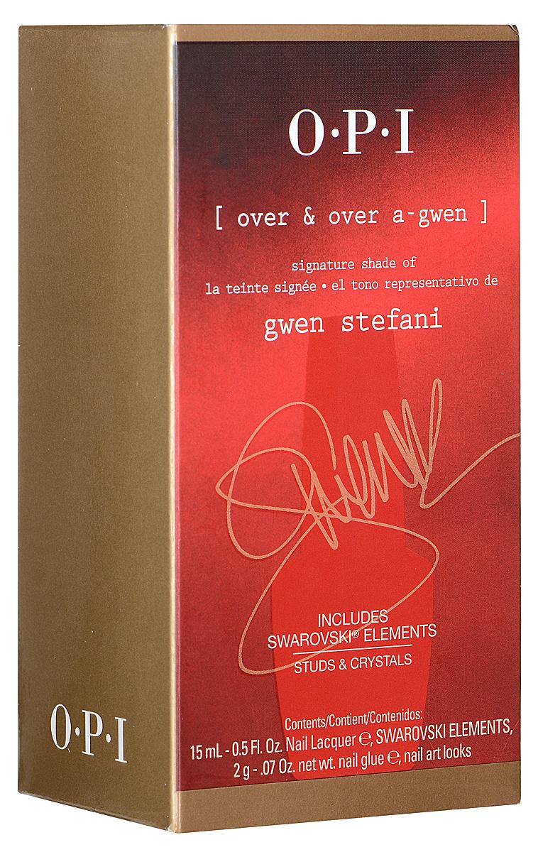 OPI Набор для дизайна ногтей Gwen Stefani: лак для ногтей, тон Over & Over A-Gwen, 15 мл, клей, 2 г, украшения для ногтейDDG04Набор для дизайна ногтей Gwen Stefani включает в себя лак для ногтей Over & Over A-Gwen, клей и декоративные украшения для ногтей. Этот оттенок лака выпущен только в составе набора и отдельно в продажу не поступит. Лак быстросохнущий, содержит натуральный шелк, перламутр и аминокислоты. Увлажняет и ухаживает за ногтями. Однородно ложится и равномерно распределяется по всей поверхности ногтевой пластины. Точно рассчитанная длина и диаметр колпачка, который не скользит в руках, делает его удобным для любого размера и формы пальцев. Уплотненное дно придает флакону устойчивость. Каждый флакон лака для ногтей отличает эксклюзивная кисточка ProWide для идеально точного нанесения лака на ногти. Товар сертифицирован.