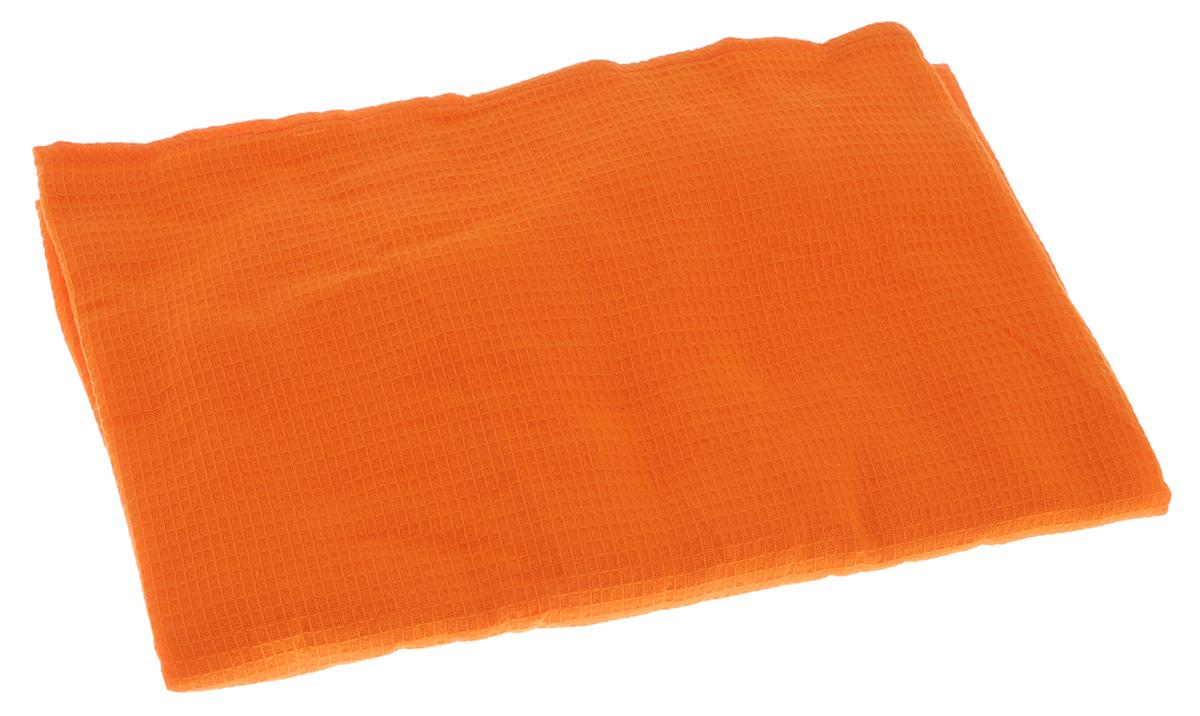Накидка для бани и сауны Банные штучки, женская, цвет: оранжевый32058_оранжевыйВафельная накидка Банные штучки, изготовленная из 100% натурального хлопка, станет незаменимым аксессуаром в бане или сауне. Изделие снабжено резинкой и застежкой-липучкой. Имеет универсальный размер. Такая накидка - очень функциональная вещь, ее также можно использовать как полотенце или коврик на скамейку. Размер: 36-60.