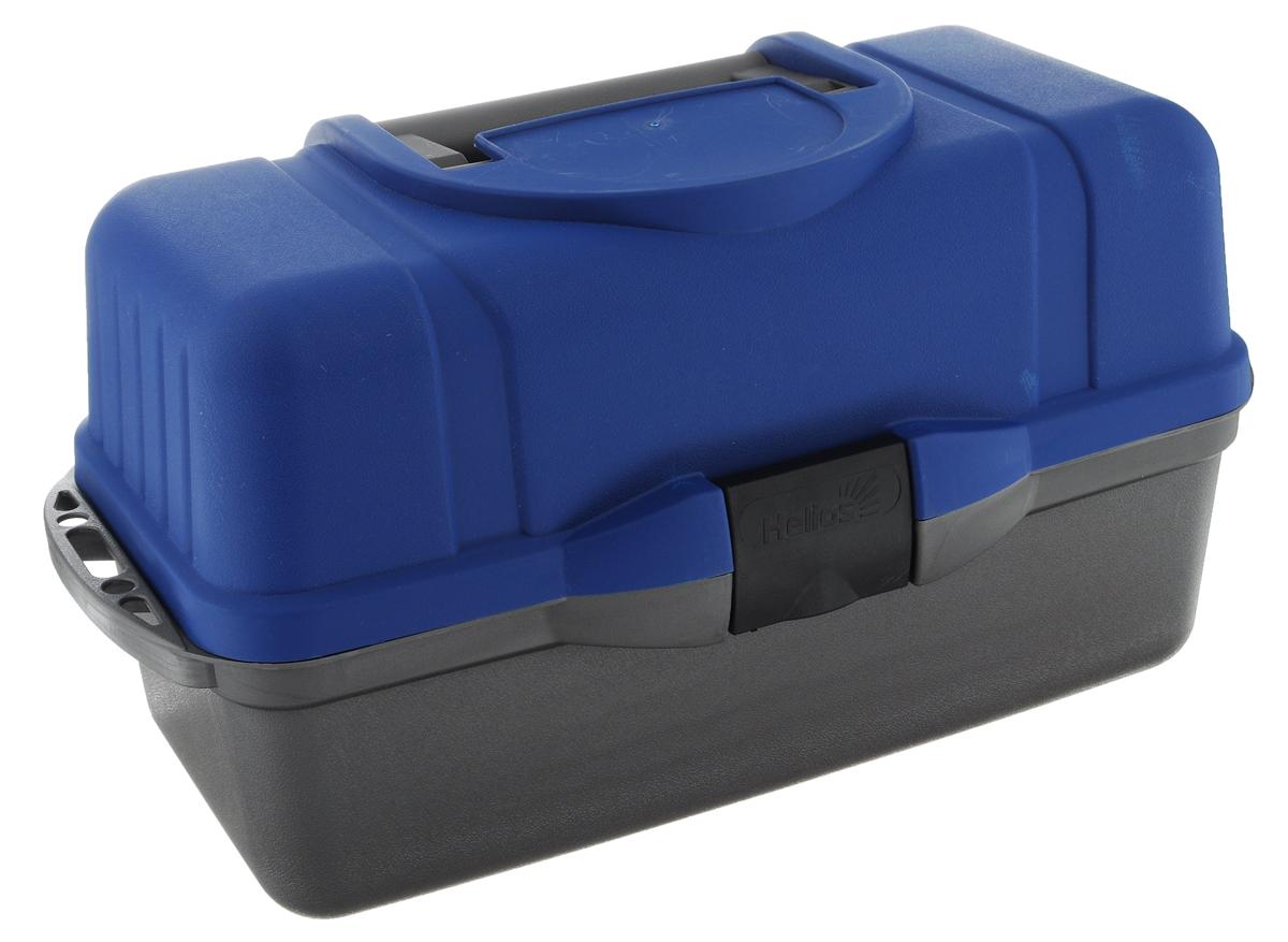 """Ящик рыболова """"Helios"""", трехполочный, цвет: синий, серый 40433"""