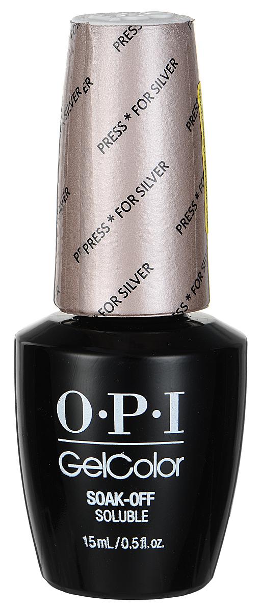 OPI Гель-лак GelColor, тон Press for Silver, 15 мл1301210Гель-лак OPI GelColor - это 100% гель в лаковом флаконе! В отличие от гелей-лаков, из-за отсутствия лаковой составляющей GelColor не подвержен сколам и трещинам. Светоотверждение в LED-лампе происходит за 30 секунд, а за 2 минуты в стандартной UV-лампе. Не требует шлифовки ногтей перед нанесением и опиливания при снятии. Снимается с помощью отмачивания за 15 минут. Не содержит ацетона, который может проникать в верхний слой ногтя и портить его. Не тускнеет и не выгорает под солнцем, сохраняя блеск до процедуры снятия.Товар сертифицирован.