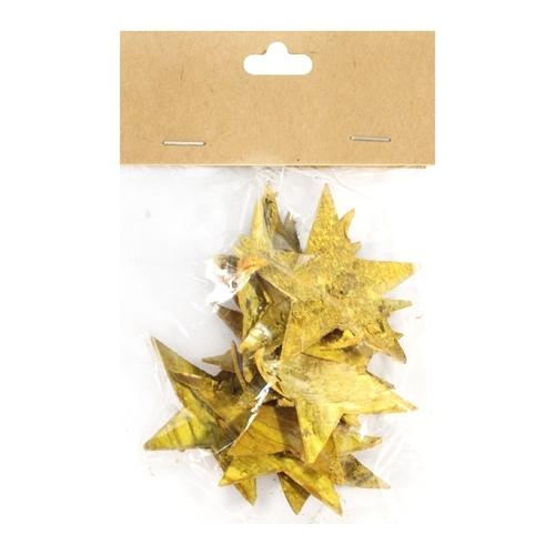 Декоративный элемент Dongjiang Art Звезда, цвет: желтый, 12 шт7709007_желтыйДекоративный элемент Dongjiang Art Звезда, изготовленный из натуральной коры дерева, предназначен для украшения цветочных композиций. Изделие выполнено в виде звезды, которое можно также использовать в технике скрапбукинг и многом другом. Флористика - вид декоративно-прикладного искусства, который использует живые, засушенные или консервированные природные материалы для создания флористических работ. Это целый мир, в котором есть место и строгому математическому расчету, и вдохновению. Размер одного элемента: 6,5 см х 5,5 см.