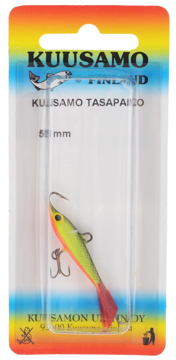 Балансир Kuusamo Tasapaino, с тройником, цвет: черный, желтый, красный, 5 см06/4/07Kuusamo Tasapaino - это классический балансир, проверенный временем. Традиционно высокое качество изготовления гарантирует улов. Балансир Kuusamo Tasapaino отлично подойдет для ловли окуня, судака, берша и щуки. Изделие комплектуется одинарными крючками и подвесным тройником.
