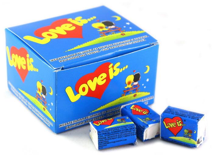 Love is Жевательная резинка, клубника-банан, 20 шт