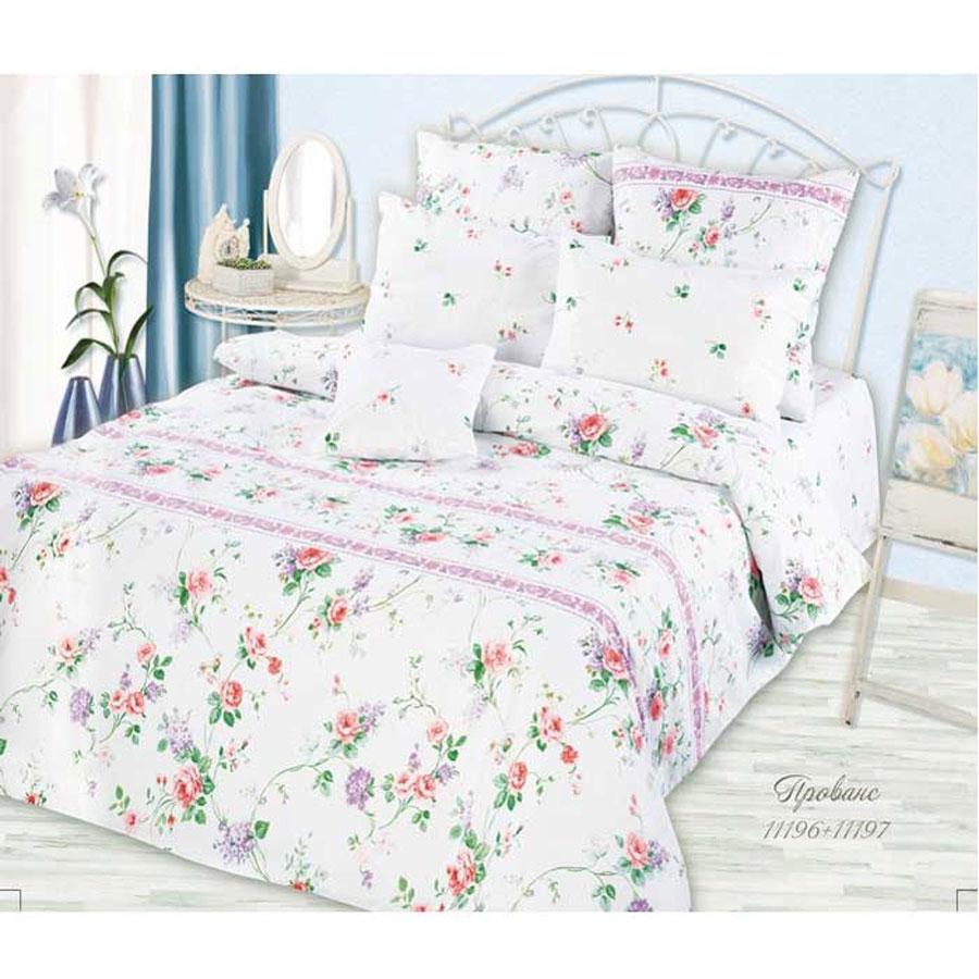 Комплект белья Romantic Прованс, 1,5-спальный, наволочки 50х70, цвет: белый, розовый, сиреневый252493Роскошный комплект постельного белья Romantic Прованс выполнен из ткани Lux Cotton, произведенной из натурального длинноволокнистого мягкого 100% хлопка. Ткань приятная на ощупь, при этом она прочная, хорошо сохраняет форму и легко гладится. Комплект состоит из пододеяльника, простыни и двух наволочек, оформленных оригинальным цветочным принтом. Постельное белье Romantic создано специально для утонченных и романтичных натур. Дизайн постельного белья подчеркнет ваш индивидуальный стиль и создаст неповторимую и романтическую атмосферу в вашей спальне.