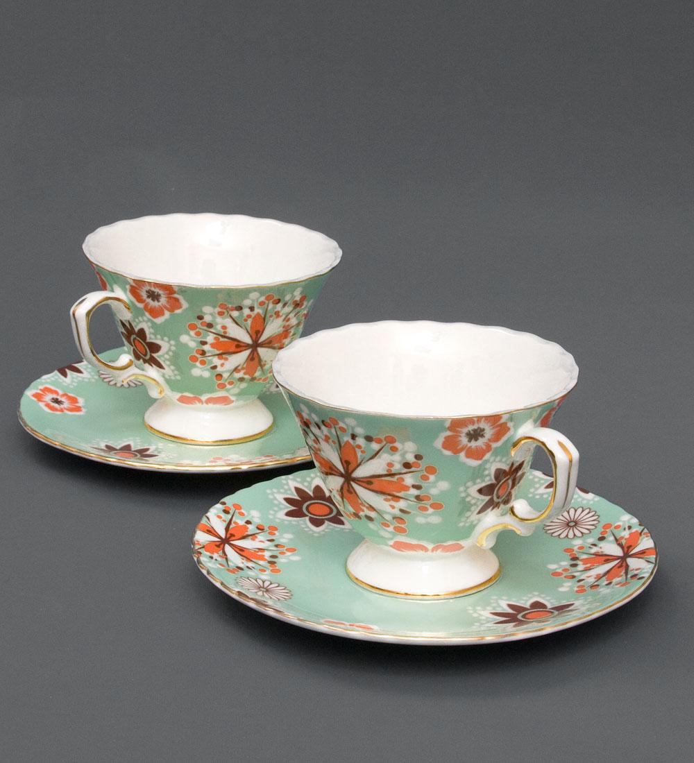 Набор чайный Pavone Антонелла, цвет: зеленый, 4 предмета451374Чайный набор Pavone Антонелла, выполненный из высококачественного фарфора, состоит из 2 чашек и 2 блюдец. Предметы набора декорированы изображением цветов. Изделия прекрасно подойдут как для повседневного использования, так и для праздников. Набор Pavone Антонелла - это не только яркий и полезный подарок для родных и близких, но и великолепное дизайнерское решение для вашей кухни или столовой. Объем чашки: 200 мл. Высота чашки: 8 см. Диаметр блюдца: 16 см.