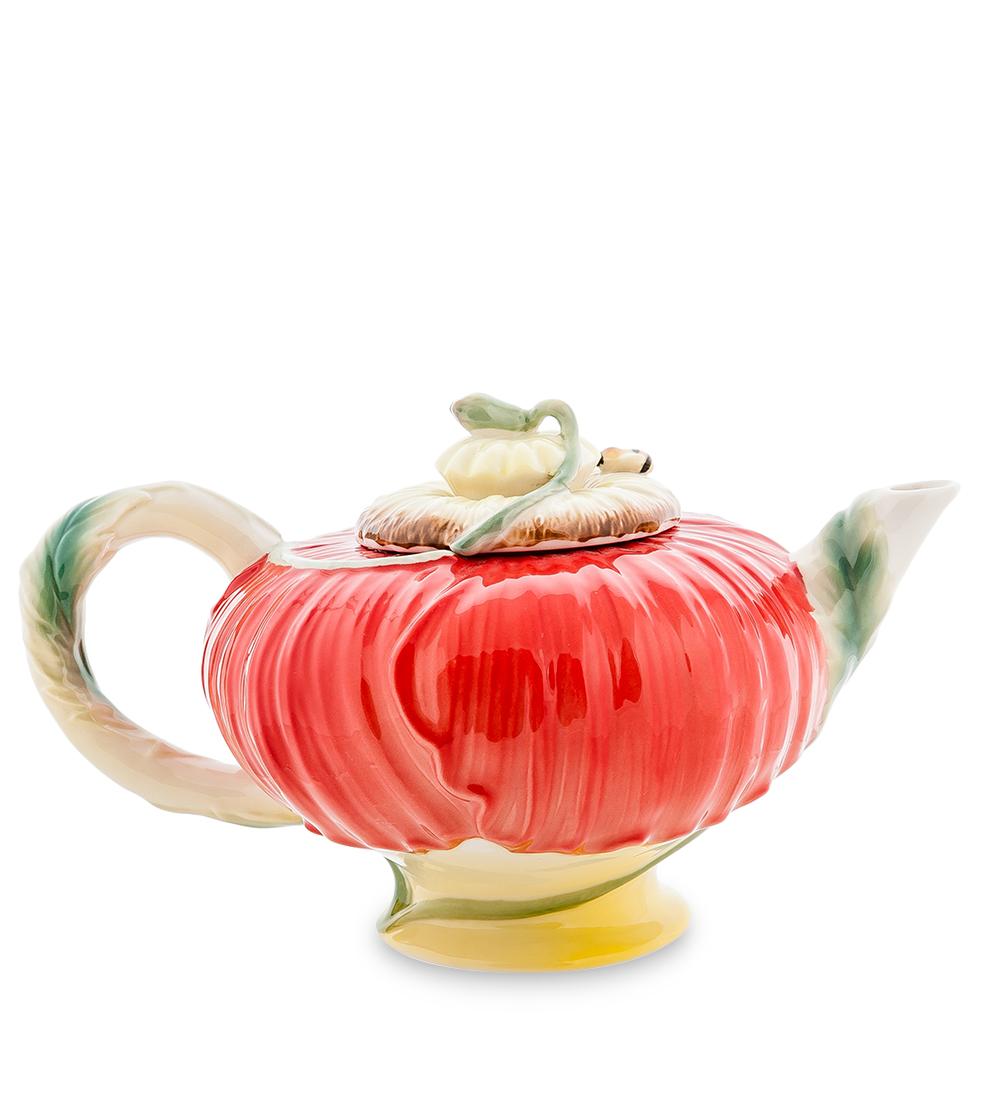 Чайник заварочный Pavone Маки, 600 мл103814Заварочный чайник Pavone Маки изготовлен из высококачественного фарфора. Оригинальное исполнение придает модели особый шарм, который понравится каждому. Чайник снабжен удобной ручкой, носиком и крышкой. Такой заварочный чайник красиво дополнит сервировку стола к чаепитию и станет полезным приобретением для любой хозяйки. Отличный подарок к любому случаю. Высота: 12 см. Объем чайника: 600 мл.
