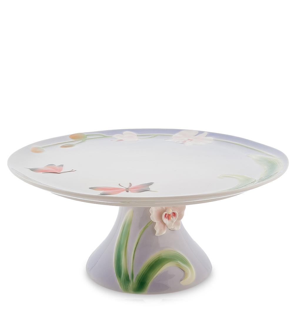 Тортовница Pavone Орхидея, диаметр 31 см104299Тортовница Pavone Орхидея выполнена из высококачественного фарфора. Посуда обладает гладкой поверхностью и не впитывает запахи, ее легко и просто мыть. Изящный дизайн и красочность оформления придутся по вкусу и ценителям классики, и тем, кто предпочитает современный стиль. Не рекомендуется мыть в посудомоечной машине и использовать в микроволновой печи. Диаметр: 31 см. Высота: 14 см.
