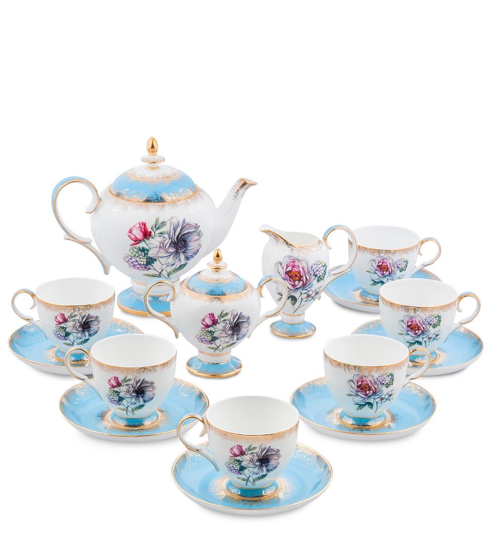 Чайный сервиз Pavone Цветок Неаполя, на 6 персон, 15 предметов451509Чайный сервиз Pavone Цветок Неаполя состоит из 6 чашек и 6 блюдец, заварочного чайника, сахарницы и молочника. Изделия выполнены из высококачественного фарфора и украшены изящным рисунком. Такой сервиз будет великолепно смотреться на столе, он отлично дополнит сервировку стола для чаепития и порадует вас изысканным дизайном и качеством исполнения. Чайный сервиз Pavone Цветок Неаполя станет хорошим подарком к любому случаю и порадует получателя. Объем чашки: 200 мл. Высота чашки: 8 см. Диаметр блюдца: 15 см. Объем чайника: 1 л. Высота чайника: 20 см. Объем сахарницы: 300 мл. Высота сахарницы: 14 см. Объем молочника: 250 мл. Высота молочника: 13 см.