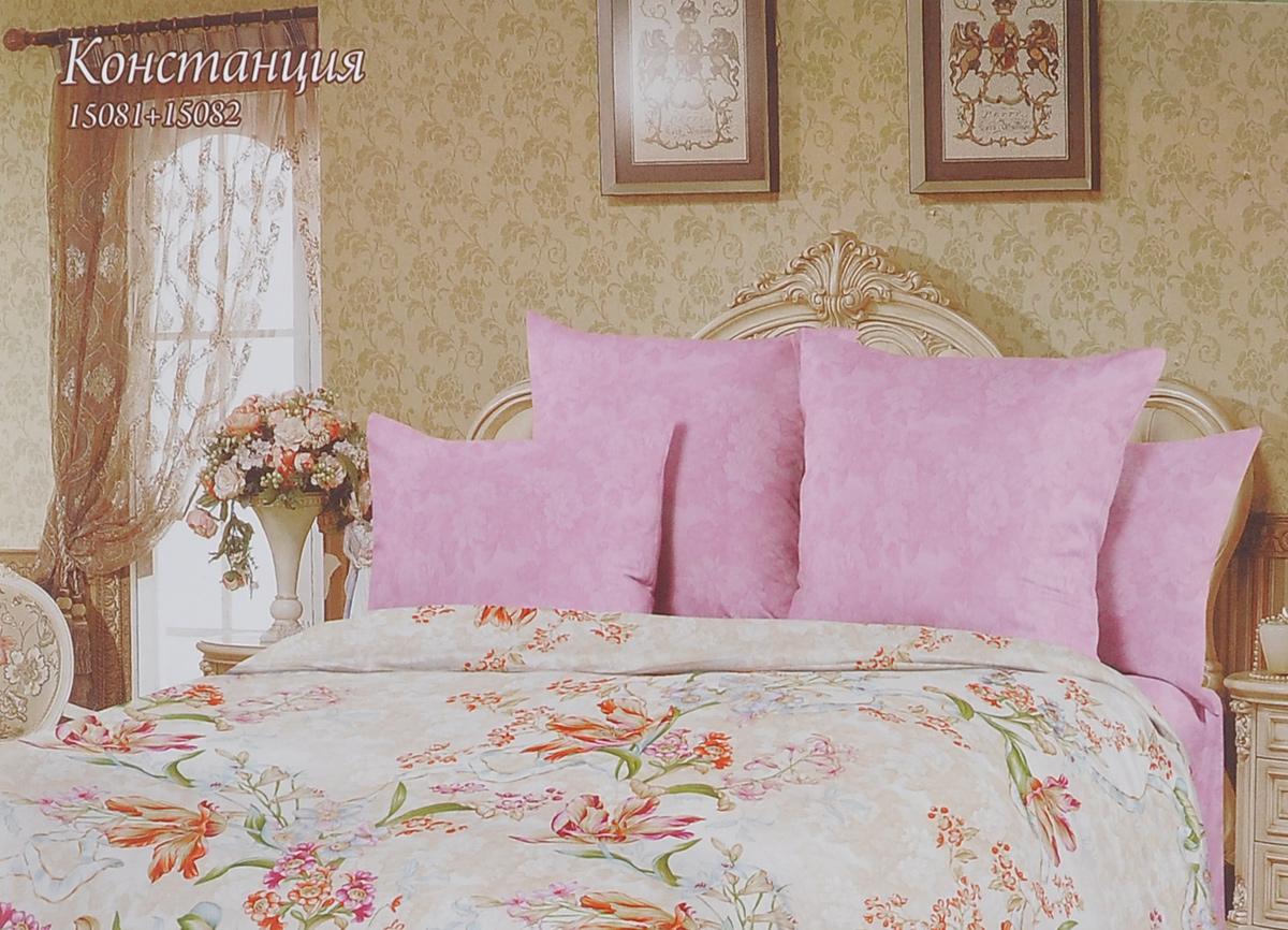 Комплект белья Romantic Констанция, семейный, наволочки 50х70, цвет: розовый, бежевый. 319131319131Роскошный комплект постельного белья Romantic Констанция выполнен из ткани Lux Cotton, произведенной из натурального длинноволокнистого мягкого 100% хлопка. Ткань приятная на ощупь, при этом она прочная, хорошо сохраняет форму и легко гладится. Комплект состоит из пододеяльника, простыни и двух наволочек, оформленных цветочным принтом. Постельное белье Romantic создано специально для утонченных и романтичных натур. Дизайн постельного белья подчеркнет ваш индивидуальный стиль и создаст неповторимую и романтическую атмосферу в вашей спальне.