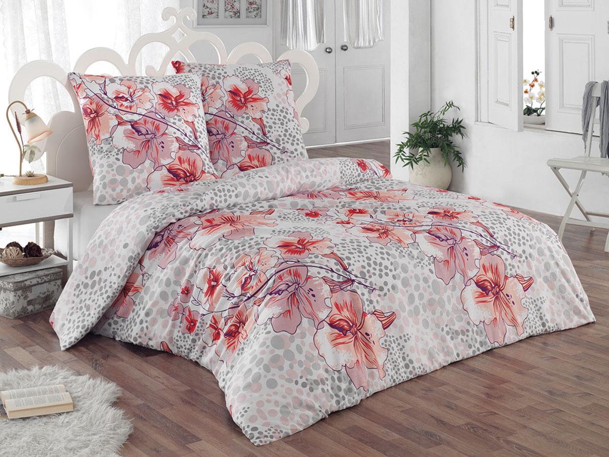 Комплект белья Tete-a-tete Classic Катрина, 2-спальный, наволочки 70х70, цвет: белый, светло-розовый, оранжевый30.07.31.0145Комплект постельного белья Tete-a-Tete Classic Катрина является экологически безопасным для всей семьи, так как выполнен из бязи (100% натурального хлопка). Комплект состоит из пододеяльника, простыни и двух наволочек. Постельное белье, оформленное цветочным принтом, послужит прекрасным дополнением к интерьеру вашей спальной комнаты.Гладкая структура делает ткань приятной на ощупь, мягкой и нежной, при этом она прочная и хорошо сохраняет форму. Ткань легко гладится, не линяет и не садится. Комплект постельного белья Tete-a-Tete Classic Катрина станет отличным дополнением вашего интерьера и подарит гармоничный сон.