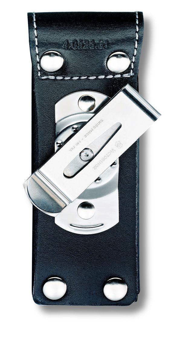 Чехол на ремень Victorinox 4.0523.31, цвет: черный4.0523.31Чехол Victorinox на ремень с застежкой - липучкой Velcro. На закрывающем клапане находится металлическая фирменная эмблема компании Victorinox с изображением швейцарского креста. Для солдатских ножей размером 111 мм и многофункциональных инструментов серии SwissTools (115 мм). Толщина ножа: до 3-х уровней Цвет: черный Материл: натуральная кожа.