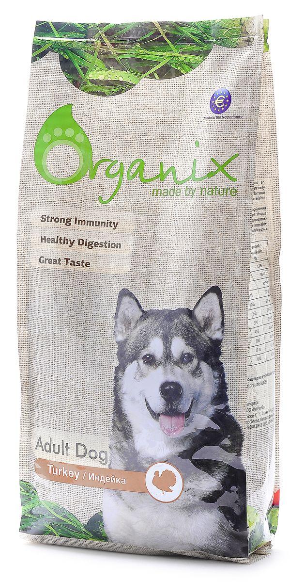 Organix Для взрослых собак с индейкой для чувствительного пищеварения (Adult Dog Turkey), 2,5 кг0120710Organix с индейкой разработан специально для собак с чувствительным пищеварением или пищевой непереносимостью. Корм нормализует микрофлору кишечника и улучшает работу ЖКТ. Идеально подходит для собак, склонных к аллергическим реакциям. 100 % натуральный, Organix НЕ содержит никаких искусственных добавок и ГМО, а так же пшеницу, сою и субпродукты! Пивные дрожжи придают блеск и шелковистость шерсти и являются важным ингредиентом для здоровья кожи. Сбалансированный комплекс витаминов и минералов и льняное семя способствуют укреплению иммунитета.Входящие в состав хондроитин и глюкозамин укрепляют кости и суставы вашего любимца! Содержит лецитин для здоровья печени. Инулин и дополнительный источник клетчатки в виде свеклы заботится о здоровье кишечника вашей собаки.L-карнитин увеличивает выносливость собаки при физических нагрузках и контролирует оптимальный вес собаки. Состав: маис, дегидрированное мясо индейки, рис, мякоть свеклы (для улучшения работы ЖКТ), куриный жир, гидролизованная куриная печень, семена льна, кэроб, рыбная мука, пивные дрожжи (источник здоровья шерсти и кожи), яичный порошок, минералы и витамины, гидролизованные хрящи (источник хондроитина), гидролизат ракообразных (источник глюкозамина), L- карнитин, лецитин, инулин (FOS). Гарантированный анализ: Белки 18 % , Жиры8 % , Клетчатка3 % , Зола4 % , Влажность10 % , Фосфор 0,7 % , Кальций0,9 %. Витамины: Витамин A 20 000 ME/kg, Витамин D3 2 000 ME/kg, Витамин E*200 mg/kg, Витамин C 70 mg/kg, Железо 50 mg/kg, Йод 1,5mg/kg, Кобальт1 mg/kg, Медь 5 mg/kg, Марганец 35 mg/kg, Цинк 65 mg/kg, Селен 0,3 mg/kg. Условия хранения: в прохладном темном месте.