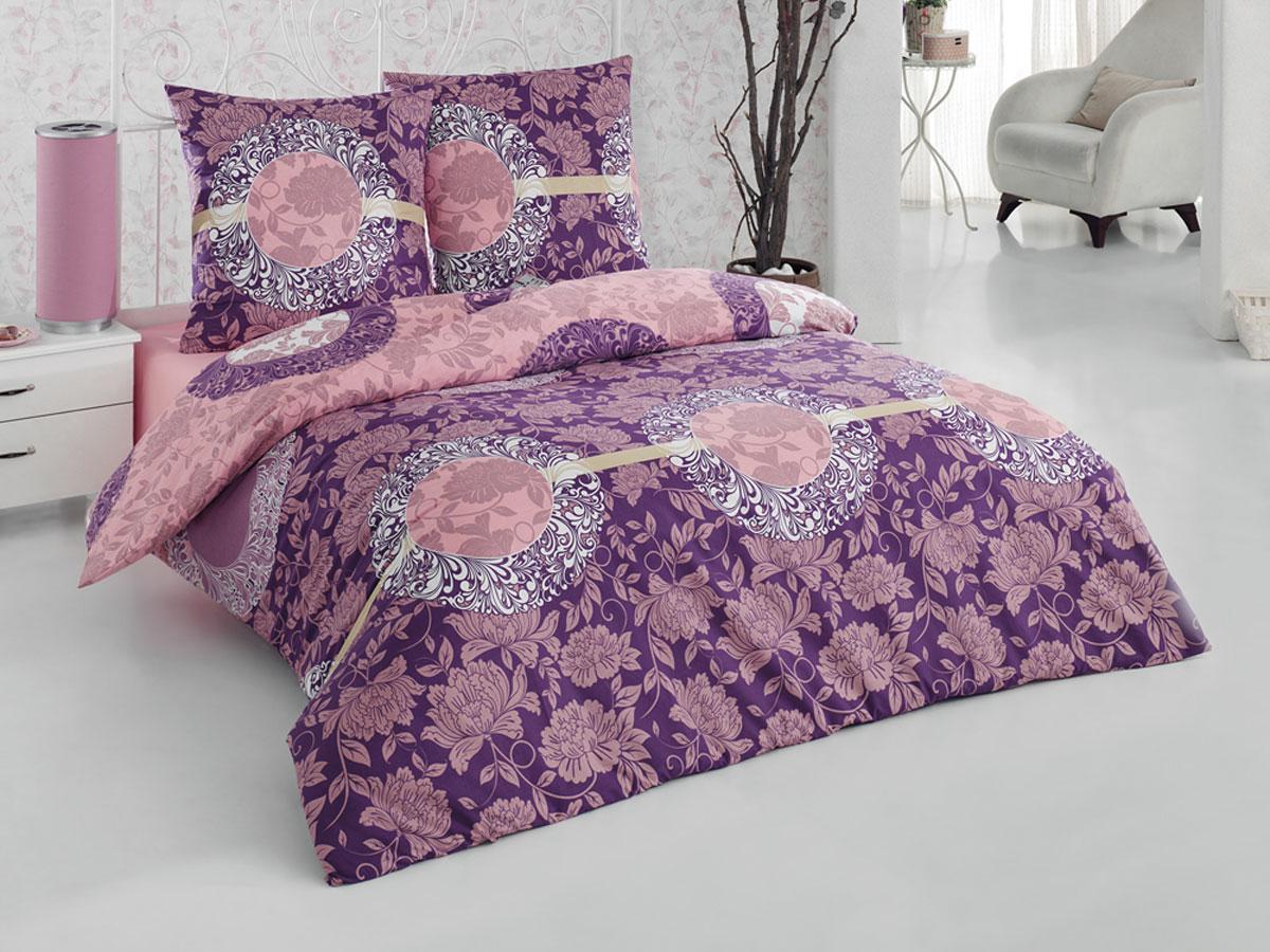 Комплект белья Tete-a-Tete Classic Нега, 1,5-спальный, наволочки 70х70, цвет: фиолетовый, сиреневый, темно-розовый. К-8063К-8063Комплект постельного белья Tete-a-Tete Classic Нега состоит из пододеяльника, простыни и двух наволочек. Постельное белье оформлено ярким рисунком цветов и имеет изысканный внешний вид. Такой комплект является экологически безопасным для всей семьи, так как выполнен из бязи (100% натурального хлопка). Гладкая структура делает ткань приятной на ощупь, мягкой и нежной, при этом она прочная и хорошо сохраняет форму. Ткань легко гладится, не линяет и не садится. Комплект постельного белья Tete-a-Tete Classic Нега станет отличным дополнением вашего интерьера и подарит гармоничный сон.
