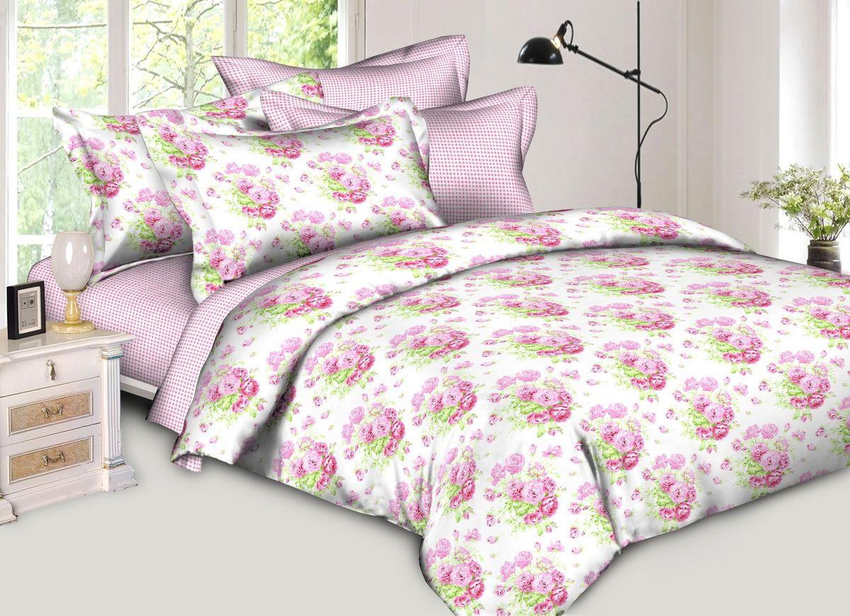 Комплект белья Диана La Vanille, 1,5-спальный, наволочки 70х70, цвет: белый, зеленый, розовый. С-651-143-150-70С-651-143-150-70Комплект постельного белья Диана La Vanille состоит из пододеяльника, простыни и двух наволочек. Белье бесшовное, оформлено оригинальным рисунком и имеет изысканный внешний вид. Изготовлено из бязи люкс (100% хлопка). Бязь - это ткань из экологически чистого и натурального 100% хлопка. Неоспоримым плюсом белья из такой ткани является мягкость и легкость, она прекрасно пропускает воздух, приятна на ощупь, не образует катышков на поверхности и за ней легко ухаживать. При соблюдении рекомендаций по уходу это белье выдерживает много стирок, не линяет и не теряет свою первоначальную прочность. Уникальная ткань обеспечивает легкую глажку. Приобретая комплект постельного белья Диана La Vanille, вы можете быть уверенны в том, что покупка доставит вам и вашим близким удовольствие и подарит максимальный комфорт.