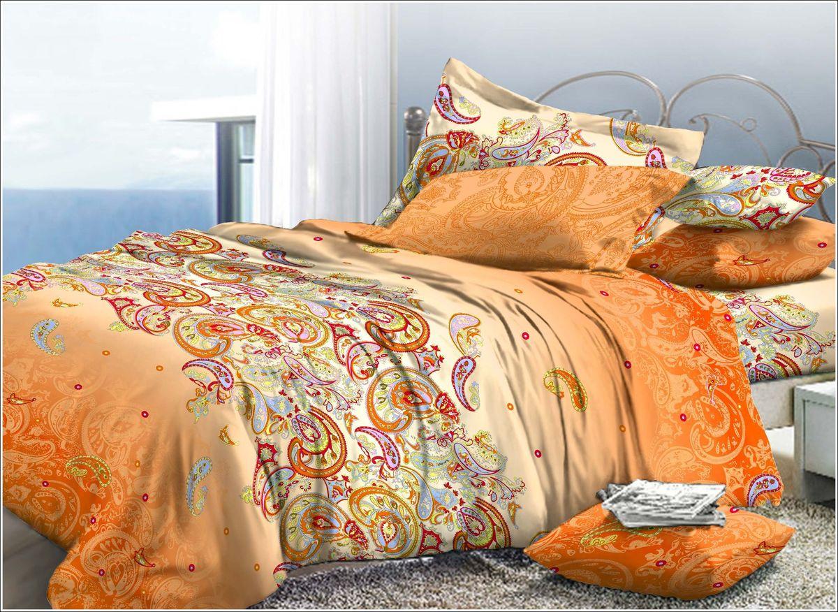 Комплект белья Диана La Vanille, 2-спальный, наволочки 70х70, цвет: молочный, оранжевый, красный. С-576-175-180-70DAVC150Комплект постельного белья Диана La Vanille состоит из пододеяльника, простыни и двух наволочек. Белье бесшовное, оформлено оригинальным узором и имеет изысканный внешний вид. Изготовлено из бязи люкс (100% хлопка).Бязь - это ткань из экологически чистого и натурального 100% хлопка. Неоспоримым плюсом белья из такой ткани является мягкость и легкость, она прекрасно пропускает воздух, приятна на ощупь, не образует катышков на поверхности и за ней легко ухаживать. При соблюдении рекомендаций по уходу это белье выдерживает много стирок, не линяет и не теряет свою первоначальную прочность. Уникальная ткань обеспечивает легкую глажку.Приобретая комплект постельного белья Диана La Vanille, вы можете быть уверенны в том, что покупка доставит вам и вашим близким удовольствие и подарит максимальный комфорт.