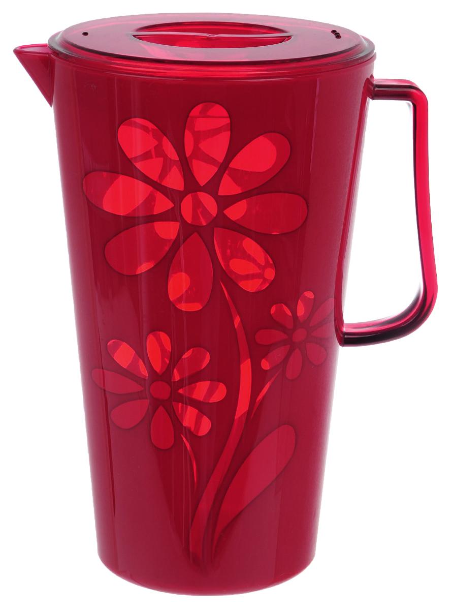 Кувшин Альтернатива Соблазн, с крышкой, цвет: красный, 2,5 лM2302Кувшин Альтернатива Соблазн выполнен из высококачественного пластика. Емкость оснащена удобной ручкой, пластиковой крышкой и отверстиями для слива воды. Изделие прекрасно подойдет для подачи воды, сока, компота и других напитков. Такой кувшин прекрасно дополнит интерьер вашей кухни и станет замечательным подарком к любому празднику. Диаметр (по верхнему краю): 14 см. Высота кувшина (без учета крышки): 24 см.