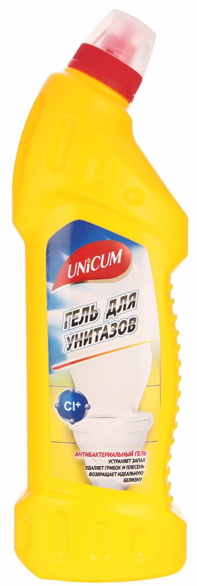 Гель для чистки унитазов Unicum, с гипохлоритом, 750 мл300445Гель Unicum высокоэффективное средство для чистки фарфорового, фаянсового и керамического оборудования ванных и туалетных комнат: унитазов, биде, раковин, кафеля. Гель мгновенно удаляет известковые налеты, ржавчину, неприятные запахи, убивает бактерии, плесень, грибок, а также придает блеск. Состав: очищенная вода, 5-15% гипохлорит натрия, менее 5% АПАВ, менее 5% НПАВ, менее 5% функциональные добавки, менее 5% отдушка. Товар сертифицирован.