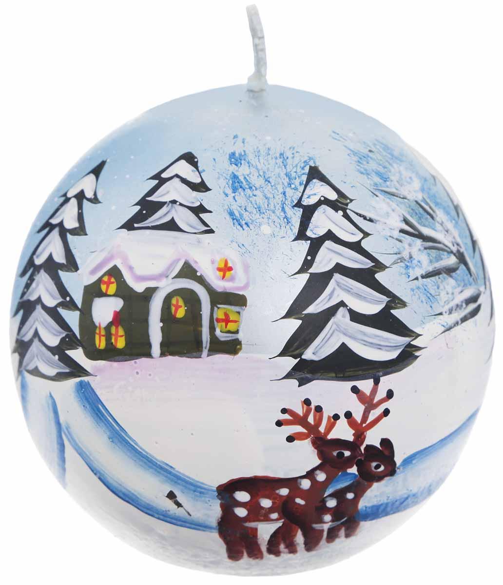 Свеча Winter Wings Зимний пейзаж, диаметр 7 смN161804Свеча Winter Wings Зимний пейзаж, изготовленная из парафина, станет прекрасным украшением интерьера помещения в преддверии Нового года. Такая свеча создаст атмосферу таинственности и загадочности и наполнит ваш дом волшебством и ощущением праздника. Хороший сувенир для друзей и близких.