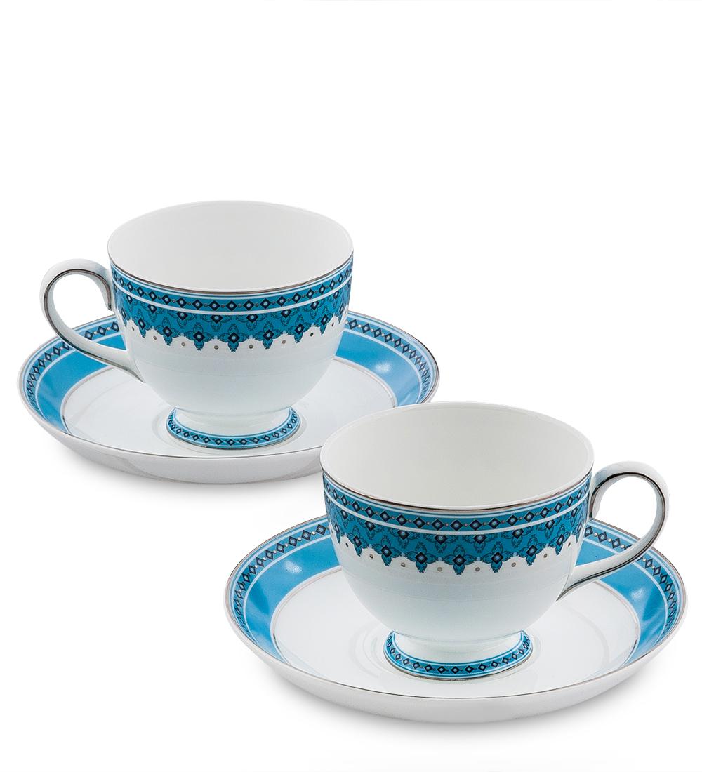 Чайный набор Pavone Византия, цвет: белый, голубой, 4 предмета451567Чайный набор Pavone Византия состоит из двух чашек и двух блюдец, изготовленных из фарфора. Предметы набора оформлены оригинальным орнаментом. Чайный набор Pavone Византия украсит ваш кухонный стол, а также станет замечательным подарком друзьям и близким. Изделие упаковано в подарочную коробку. Диаметр чашки по верхнему краю: 8,5 см. Высота чашки: 7 см. Диаметр блюдца: 15,5 см.