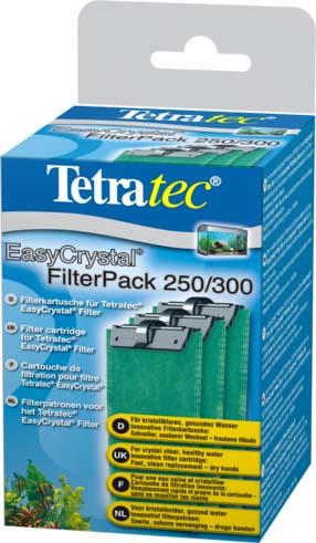 Фильтрующие картриджи без угля Tetra EC 250/300 для внутренних фильтров EasyCrystal 250/300 3 шт.151581TetraTec EC Filter pack 250/300 Набор фильтрующих картриджей без угля. Фильтрующий картридж предназначен для применения во внутренних фильтрах. В комплекте предусмотрено наличие трех губок, которые подходят для фильтрационных установок EasyCrystalFilter 250 и EasyCrystal FilterBox 300. Двусторонняя фильтрующая прослойка надёжно удаляет мельчайшие песчинки и частички грязи. Белая поверхность губки предназначена для выполнения предварительной фильтрации, а зелёная - для тщательного фильтрования воды.