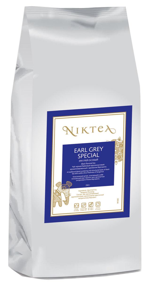 Niktea Earl Grey Special ароматизированный листовой чай, 250 г0120710Niktea Earl Grey Special - классический купаж, сочетающий в себе насыщенный вкус черного чая и деликатные цитрусовые оттенки бергамота.NikTea следует правилу качество чая - это отражение качества жизни и гарантирует:Тщательно подобранные рецептуры в коллекции топовых позиций-бестселлеров.Контролируемое производство и сертификацию по международным стандартам.Закупку сырья у надежных поставщиков в главных чаеводческих районах, а также в основных центрах тимэйкерской традиции - Германии и Голландии.Постоянство качества по строго утвержденным стандартам.NikTea - это два вида фасовки - линейки листового и пакетированного чая в удобной технологичной и информативной упаковке. Чай обладает многофункциональным вкусоароматическим профилем и подходит для любого типа кухни, при этом постоянно осуществляет оптимизацию базовой коллекции в соответствии с новыми тенденциями чайного рынка.Листовая коллекция NikTea представлена в герметичной фольгированной упаковке, которая эффективно предохраняет чай от воздействия света, влаги и посторонних запахов, обеспечивая длительное хранение. Каждая упаковка снабжена этикеткой с подробным описанием чая, его состава, а также способа заваривания.
