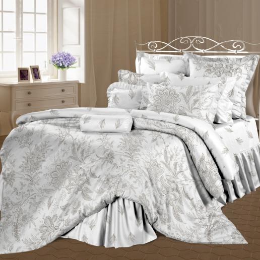 Комплект белья Романтика Ирландское кружево, евро, наволочки 50х70, цвет: белый, коричневый, серый. 317984317984Роскошный комплект постельного белья Романтика Ирландское кружево выполнен из ткани Lux Перкаль, произведенной из натурального 100% хлопка. Ткань приятная на ощупь, при этом она прочная, хорошо сохраняет форму и легко гладится. Комплект состоит из пододеяльника, простыни и двух наволочек, оформленных цветочным принтом. Благодаря такому комплекту постельного белья вы создадите неповторимую и романтическую атмосферу в вашей спальне.