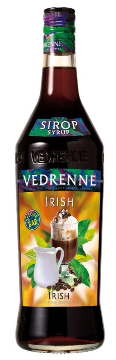 Vedrenne Айриш Крим сироп, 1 лSVDRIC-010B01Сироп Vedrenne Ирландский крем придется по душе поклонникам пикантных вкусов. Данный продукт характеризуется очаровательным ароматом с тонами темного шоколада, карамели, кофе и ненавязчивым мотивом ирландского виски. Во вкусе сиропа вы различите превосходные оттенки сливок, пралине, меда и орехов, которые развиваются на фоне ярких шоколадных нот. Благодаря оптимальному содержанию сахара, французский сироп Vedrenne Ирландский крем имеет приятную тягучую структуру, что позволяет использовать его в качестве украшения для различных сладких блюд и кондитерских изделий. Особенно привлекательные вкусовые сочетания можно получить путем данного добавления сиропа в горячий кофе или молочные коктейли. Сиропы изготавливаются на основе натурального растительного сырья, фруктовых и ягодных соков прямого отжима, цитрусовых настоев, а также с использованием очищенной воды без вредных примесей, что позволяет выдержать все ценные и полезные свойства натуральных ...