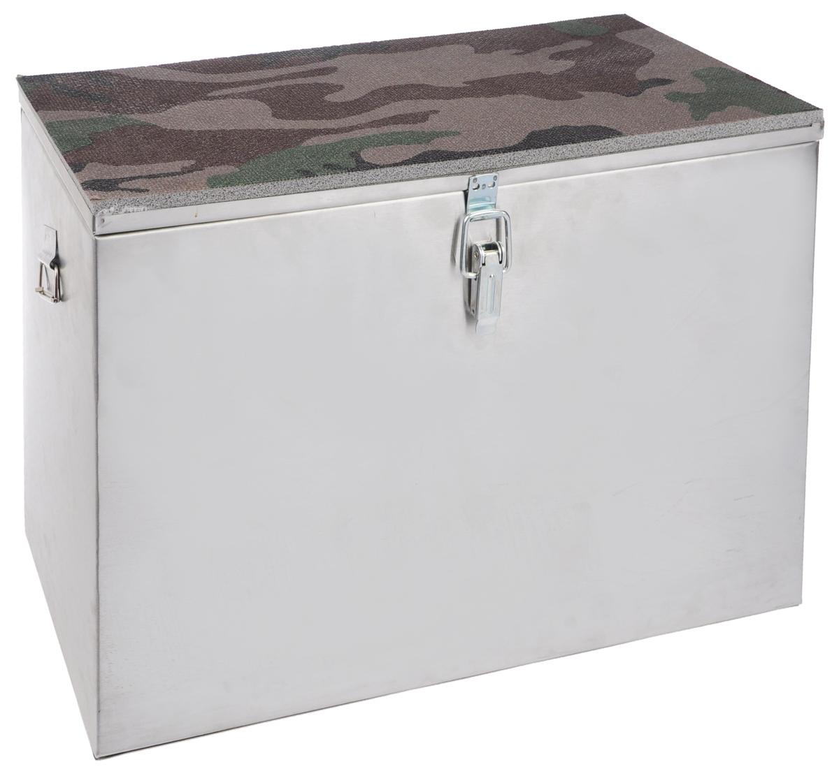 Ящик рыболова Рост, 40 см х 19 см х 29 см26738Прочный и надежный ящик Рост сможет не один год прослужить любителю зимней рыбалки для транспортировки снастей и улова. Корпус изготовлен из листовой оцинкованной стали. Служащая сиденьем верхняя часть крышки оклеена плотным теплоизолятором - пенополиэтиленом с рифленой поверхностью. Внутренний объем ящика разделен перегородкой, придающей конструкции дополнительную жесткость. Боковые стенки емкости снабжены петлями для крепления идущего в комплекте плечевого ремня.