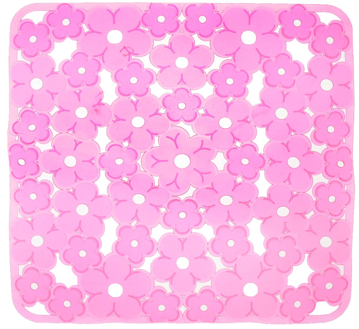 Коврик для раковины Metaltex, цвет: розовый, 32 х 32 см94672Коврик для раковины Metaltex изготовлен из ПВХ с цветочным рисунком. Изделие имеет квадратную форму с закругленными углами. Такой коврик защитит вашу посуду во время мытья, а также предотвратит засор труб, задерживая остатки пищи.