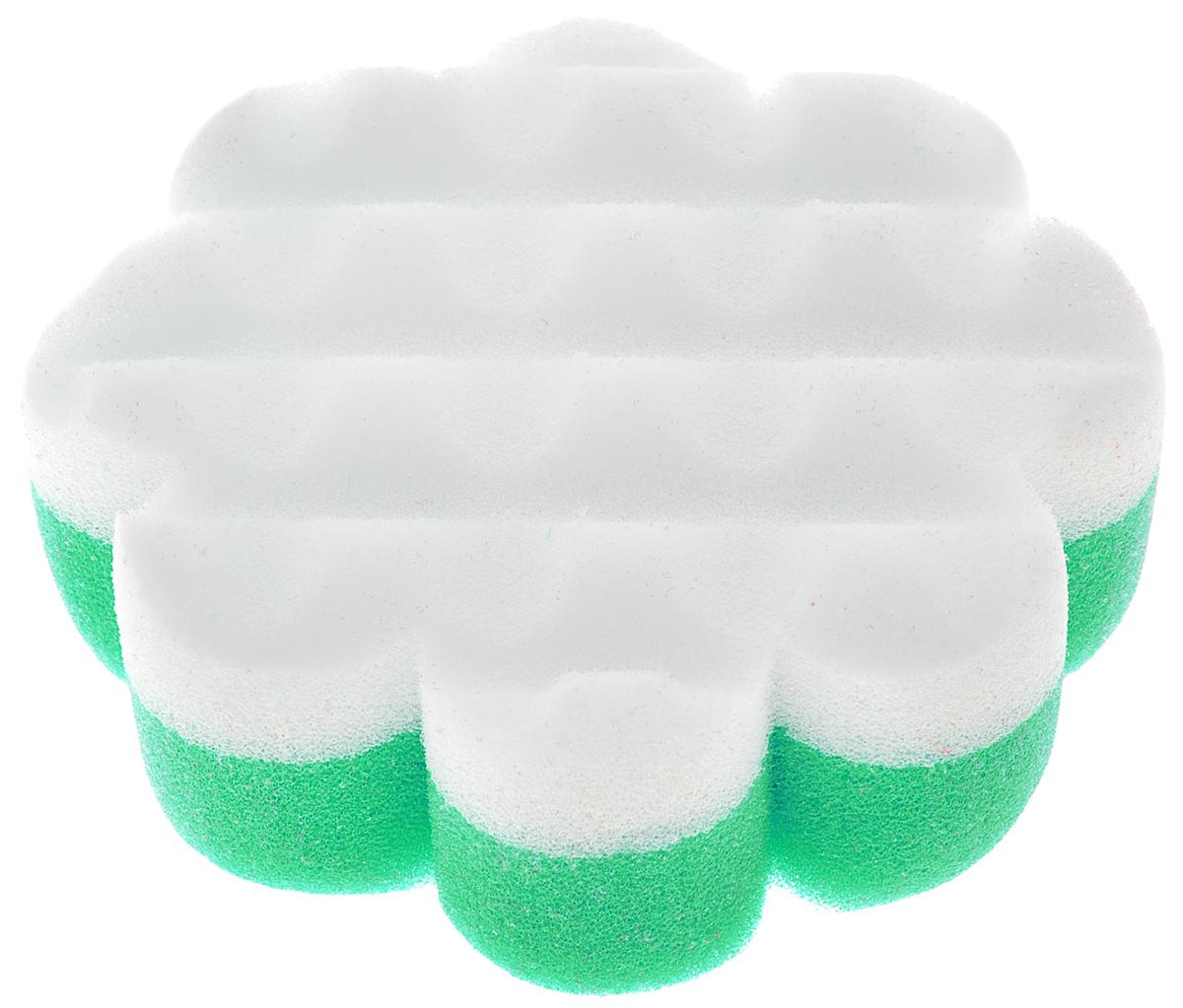 Курносики Мочалка с массажным слоем Цветок цвет зеленый белый40505_зеленый цветокМочалка Курносики в форме цветка обеспечивает мягкий уход за кожей малыша при купании и отлично взбивает мыльную пену. Детская мочалка имеет форму, комфортную для рук, а также массажный слой, помогающий удалять загрязнения. Такая мочалка поможет вам провести купание малыша мягко и комфортно. Мочалка с массажным слоем Курносики прослужит вам длительно, радуя вас и вашего малыша.