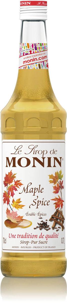 Monin Кленовый сироп, 0,7 л0120710Сиропы Monin выпускает одноименная французская марка, которая известна как лидирующий производитель алкогольных и безалкогольных сиропов в мире. В 1912 году во французском городке Бурже девятнадцатилетний предприниматель Джордж Монин основал собственную компанию, которая специализировалась на производстве вин, ликеров и сиропов. Место для завода было выбрано не случайно: город Бурже находился в непосредственной близости от крупных сельскохозяйственных районов — главных поставщиков свежих ягод и фруктов. Эксперты всего мира сходятся во мнении, что сиропы Monin — это законодатели мод в миксологии. Ассортимент французской марки на сегодняшний день является самым широким и насчитывает полторы сотни уникальных вкусовых решений. В каталоге компании можно найти как классические вкусы для кофейных напитков (шоколадный, ванильный, ореховый и другие сиропы), так и весьма экзотические варианты (сиропы со вкусом кокоса, зеленой мяты, тирамису, блю курасао, аниса, грейпфрута, пина колады и т. д.) Отметим, что все сиропы обладают мягкими, деликатными вкусоароматическими характеристиками, что говорит о натуральном составе продуктов.Когда наступает весна, любители вкусных печенек и вафель собираются в походы за кленовым соком. Ведь сироп, сделанный из этого сока, придает нашим любимым лакомствам именно тот вкус, который нам так нравится. Но теперь все изменилось — линейка натуральных сиропов Monin предлагает сироп с кленовым вкусом, который, как и предыдущие, получен из натурального кленового сока. Теперь не стоит ждать весну — она круглый год с вами, а значит, и любимые лакомства тоже всегда рядом. Но данный сироп можно использовать не только в кондитерских изделиях, но и добавлять его в ваш утренний кофе для более глубокого вкуса.