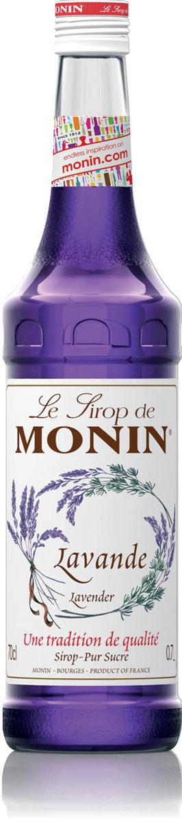 Monin Лаванда сироп, 0,7 л0120710Сироп Monin Лаванда имеет красивый цвет и отличительный аромат, который напомнит вам о цветах и ароматах Прованса. Уникальный букет цветочных ароматов, который также включает в себя жасмин, розу и фиалку. Большинство людей ассоциируют с лавандой ее использование в парфюмерии и ароматерапии. Лаванда использовалась в течение многих тысячелетий, по крайней мере начиная с Римской империи. Прекрасный цветок для многих декоративных элементов, большой акцент во многих рецептах от блюд до десертов. Все цветочные сиропы Monin идеальны для придания свежего цветочного аромата и удивительного разнообразия напитков и продуктов питания.Сиропы Monin выпускает одноименная французская марка, которая известна как лидирующий производитель алкогольных и безалкогольных сиропов в мире. В 1912 году во французском городке Бурже девятнадцатилетний предприниматель Джордж Монин основал собственную компанию, которая специализировалась на производстве вин, ликеров и сиропов. Место для завода было выбрано не случайно: город Бурже находился в непосредственной близости от крупных сельскохозяйственных районов — главных поставщиков свежих ягод и фруктов.Производство сиропов стало ключевым направлением деятельности компании Monin только в 1945 году, когда пост главы предприятия занял потомок основателя — Пол Монин. Именно под его руководством ассортимент марки пополнился разнообразными сиропами из натуральных ингредиентов, которые молниеносно заслужили блестящую репутацию в кругу поклонников кофейных напитков и коктейлей. По сей день высокое качество остается базовым принципом деятельности французской марки. Сиропы Монин создаются исключительно из натуральных ингредиентов по уникальным технологиям, позволяющим сохранять в готовом продукте все полезные свойства природного сырья.Эксперты всего мира сходятся во мнении, что сиропы Monin — это законодатели мод в миксологии. Ассортимент французской марки на сегодняшний день является самым широким и насчитывает полторы сотни