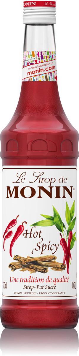 Monin Острый сироп, 0,7 л0120710Monin Острый имеет сильный аромат специй. С ним вы испытаете сильные эмоции приятного острого пряного вкуса специй и перца чили. Он содержит натуральные экстракты корицы и перца. Попробуйте добавить сироп в различные коктейли и кулинарные приложения и вы будете влюблены в это горячее чувство.Сиропы Monin выпускает одноименная французская марка, которая известна как лидирующий производитель алкогольных и безалкогольных сиропов в мире. В 1912 году во французском городке Бурже девятнадцатилетний предприниматель Джордж Монин основал собственную компанию, которая специализировалась на производстве вин, ликеров и сиропов. Место для завода было выбрано не случайно: город Бурже находился в непосредственной близости от крупных сельскохозяйственных районов - главных поставщиков свежих ягод и фруктов.