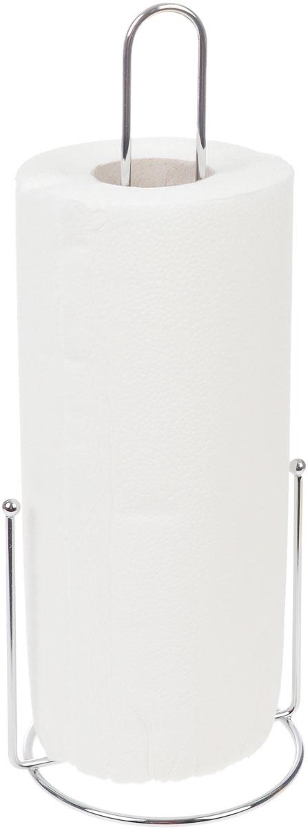 Держатель для бумажных полотенец Kesper9000-2Держатель для бумажных полотенец Kesper изготовлен из металла с хромированной поверхностью. Круглое основание обеспечивает устойчивость подставки. Вы можете установить ее в любом удобном месте. Держатель подходит для всех видов кухонных полотенец. Такой держатель для бумажных полотенец станет полезным аксессуаром в домашнем быту и идеально впишется в интерьер современной кухни. В комплекте с держателем - рулон бумажных полотенец для рук. Диаметр основания держателя: 12 см. Высота держателя: 33 см.