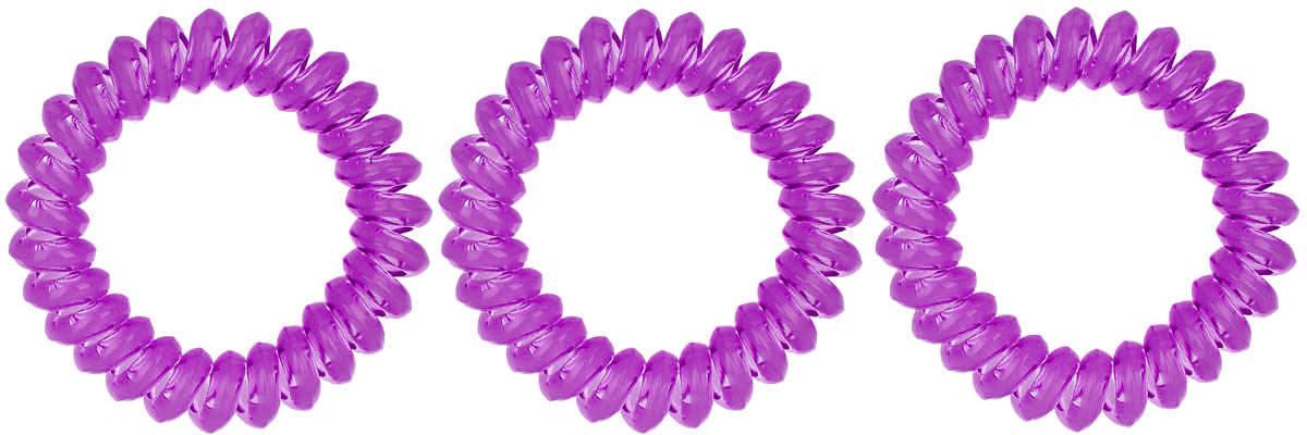 Резинка-браслет для волос Mitya Veselkov, цвет: фиолетовый, 3 шт. REZ1CF5512F4Яркие резинки-браслеты Mitya Veselkov выполнены из качественного ПВХ. Столь необычная форма резинок дает множество преимуществ. Резинка не оставляет заломов на волосах. При длительном ношении, снимая ее, вы не почувствуете усталость волос.Оригинально смотрится на волосах. Отлично сохраняет свою форму и надежно фиксирует прическу. Не мокнет. Не травмирует волосы. В отличие от обычных резинок, нет трения, зажимов отдельных волосков или прядей.Также их можно использовать как стильные браслеты.