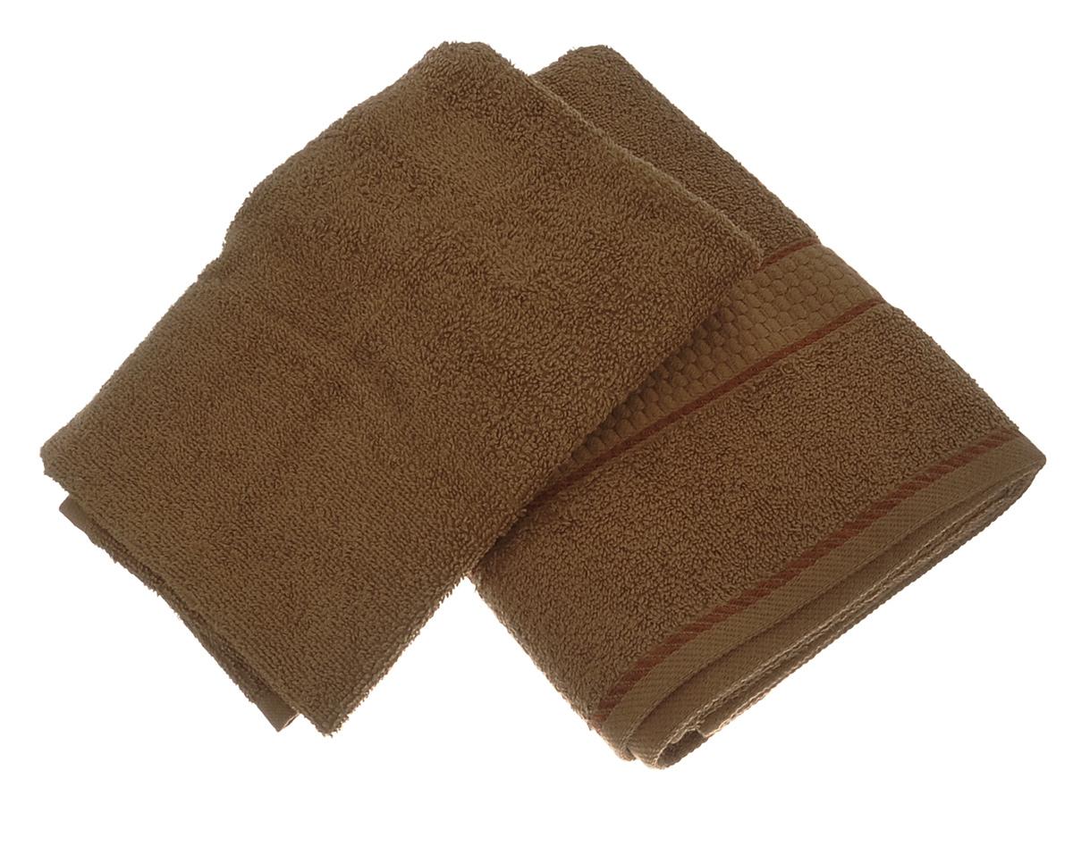 Набор махровых полотенец Aisha Home Textile, цвет: коричневый, 2 шт531-401Набор Aisha Home Textile состоит из двух махровых полотенец разного размера, выполненных из натурального 100% хлопка. Изделия отлично впитывают влагу, быстро сохнут, сохраняют яркость цвета и не теряют формы даже после многократных стирок.Полотенца очень практичны и неприхотливы в уходе. Комплектация: 2 шт.