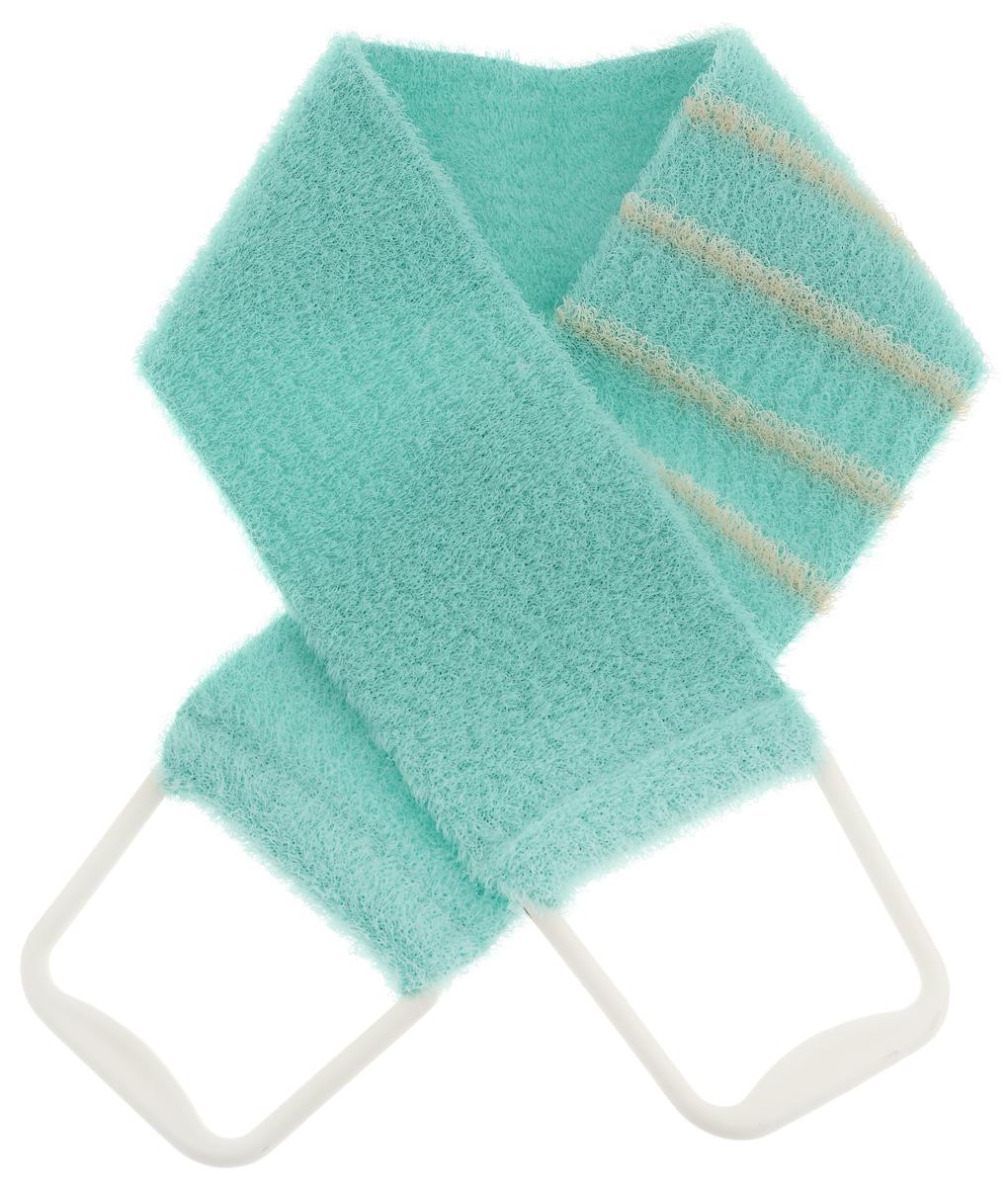 Riffi Мочалка-пояс, массажная, жесткая, цвет: салатовый. 824SW 417Мочалка-пояс Riffi используется для мытья тела, обладает активным пилинговым действием, тонизируя, массируя и эффективно очищая вашу кожу. Хлопковая основа придает мочалке высокие моющие свойства, а примесь жестких синтетических волокон усиливает ее массажное воздействие на кожу. Для удобства применения пояс снабжен двумя пластиковыми ручками.Благодаря отшелушивающему эффекту мочалки-пояса, кожа освобождается от отмерших клеток, становится гладкой, упругой и свежей. Массаж тела с применением Riffi стимулирует кровообращение, активирует кровоснабжение, способствует обмену веществ, что в свою очередь позволяет себя чувствовать бодрым и отдохнувшим после принятия душа или ванны. Riffi регенерирует кожу, делает ее приятно нежной, мягкой и лучше готовой к принятию косметических средств. Приносит приятное расслабление всему организму. Борется со спазмами и болями в мышцах, предупреждает образование целлюлита и обеспечивает омолаживающий эффект. Моет легко и энергично. Быстро сохнет. Гипоаллергенная.Товар сертифицирован.