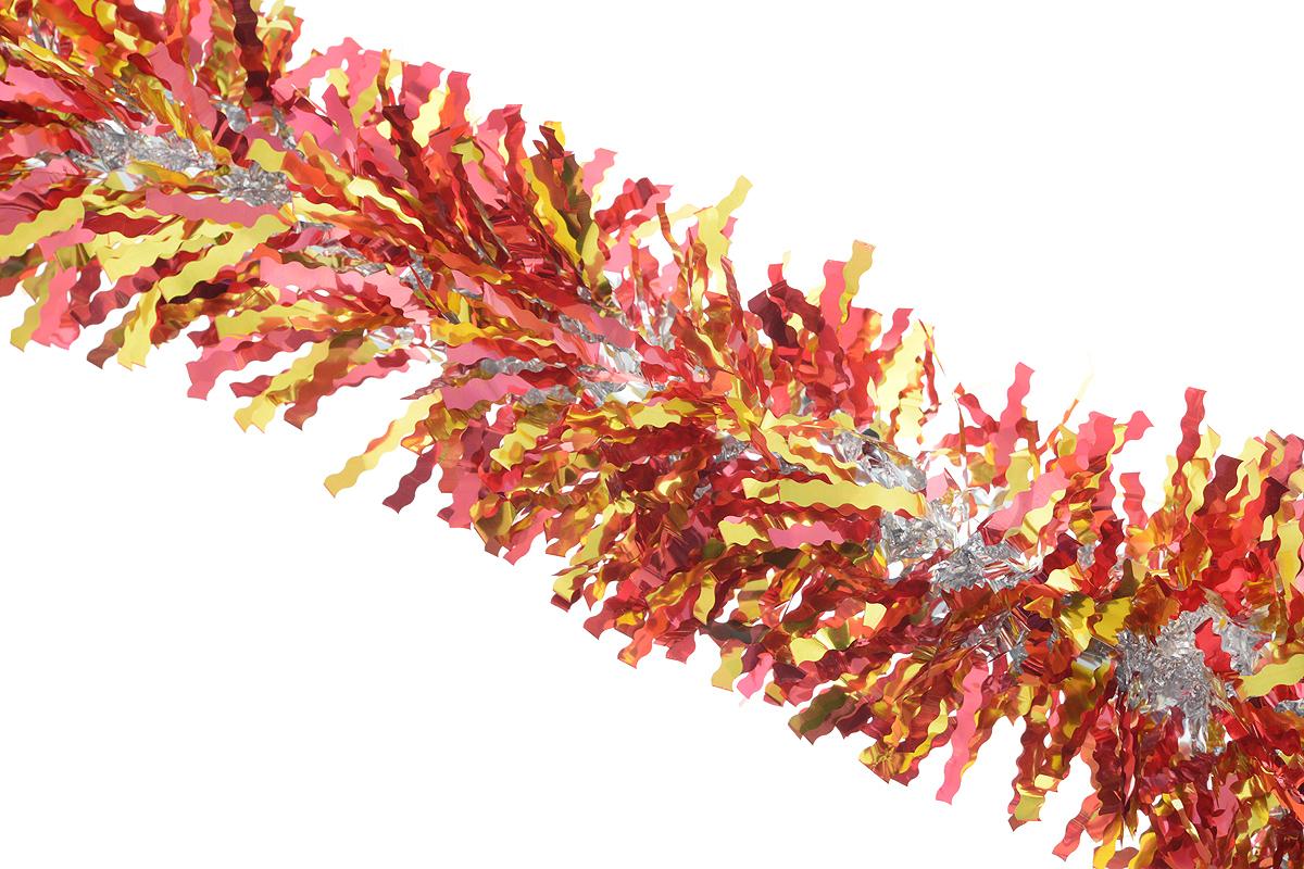 Мишура новогодняя Sima-land, цвет: красный, золотистый, диаметр 13 см, длина 200 см. 825987825987_красный, золотистыйПушистая новогодняя мишура Sima-land, выполненная из двухцветной фольги, поможет вам украсить свой дом к предстоящим праздникам. А новогодняя елка с таким украшением станет еще наряднее. Мишура армирована, то есть имеет проволоку внутри и способна сохранять придаваемую ей форму. Новогодней мишурой можно украсить все, что угодно - елку, квартиру, дачу, офис - как внутри, так и снаружи. Можно сложить новогодние поздравления, буквы и цифры, мишурой можно украсить и дополнить гирлянды, можно выделить дверные колонны, оплести дверные проемы.