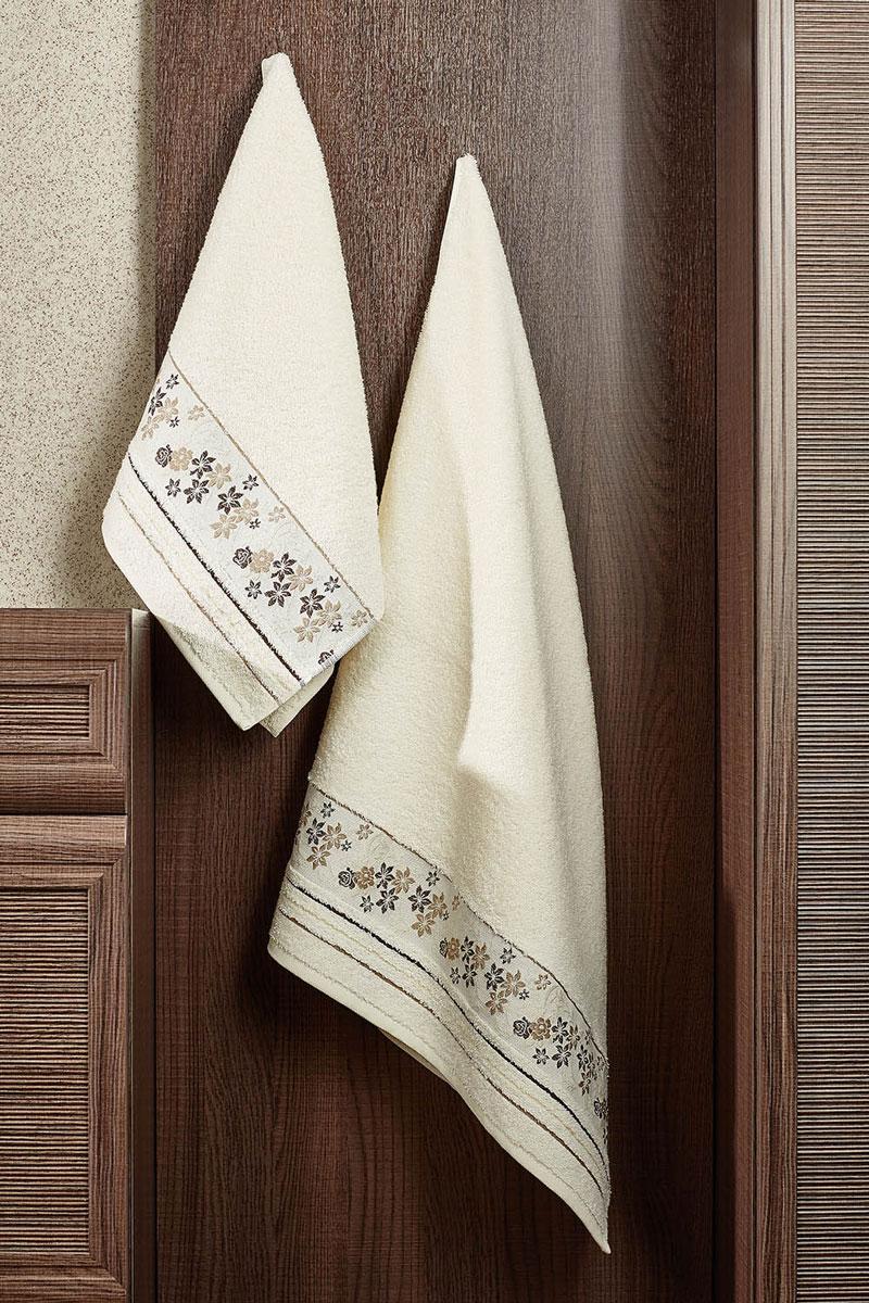 Полотенце махровое Primavelle Mile, цвет: слоновая кость, 70 см х 140 см2857014-M30Махровое полотенце Primavelle Mile - невероятно стильный и современный аксессуар для вашей ванной. Полотенце, изготовленное из натурального хлопка с оригинальной цветочной вышивкой, подарит массу положительных эмоций и приятных ощущений. Изделие отличается нежностью и мягкостью материала, утонченным дизайном и превосходным качеством. Оно прекрасно впитывает влагу, быстро сохнет и не теряет своих свойств после многократных стирок. Махровое полотенце Primavelle Mile станет достойным выбором для вас и приятным подарком для ваших близких.