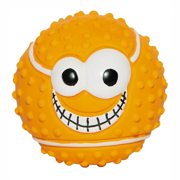 Игрушка Ziver Мяч оранжевый Веселый теннис0120710Игрушка Мяч веселый теннис - для собак Размер: 7,5 см., Цвет: оранжевыйМатериал: латексЗвук: пищалкаПроизводитель ZIVER