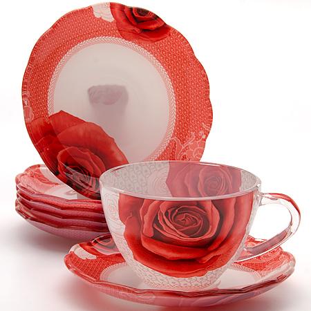 24122 Чайный набор стекло 12пр (200мл) LR (х8)24122Чайный сервиз (12 предметов) 12 предметов: - чашка (6 шт) - болюдце (6 шт) Материал: стекло Размер упаковки: 40х19х6,8 Объем: 200 мл Вес: 2,1 кг Чайный набор, выполненный из высококачественного прочного стекла, состоит из шести чашек и шести блюдец. Изделия декорированы изящным изображением цветов. Элегантный дизайн и совершенные формы предметов набора привлекут к себе внимание и украсят интерьер вашей кухни. Набор идеально подойдет для сервировки стола и станет отличным подарком к любому празднику. Подходит как для горячих, так и для холодных напитков.