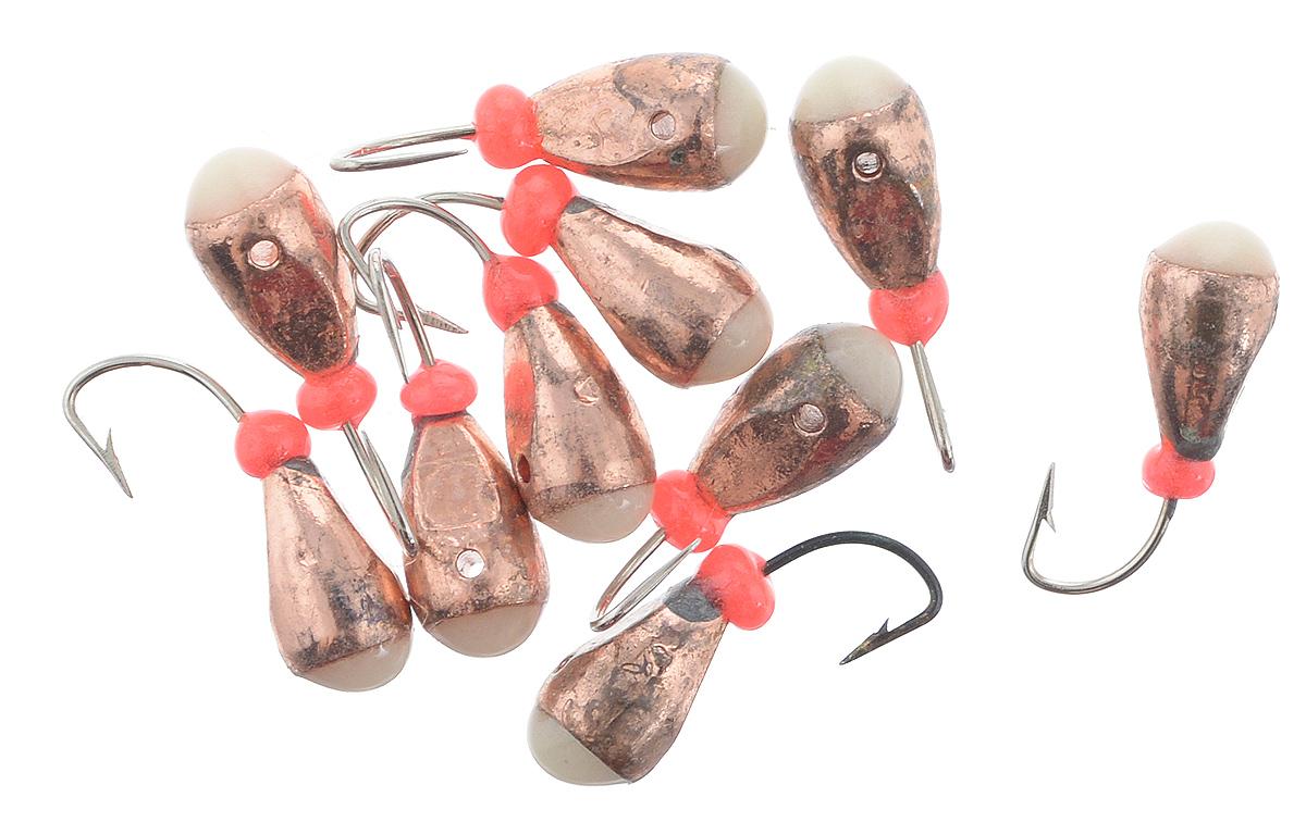 Мормышка вольфрамовая Dixxon-Russia, капля с отверстием и фосфором, цвет: медный, диаметр 4 мм, 10 шт06/4/07Мормышка Dixxon-Russia изготовлена из вольфрама и оснащена крючком. Главное достоинство вольфрамовой мормышки - большой вес при малом объеме. Эта особенность дает большие преимущества при ловле, так как позволяет быстро погрузить приманку на требуемую глубину и лучше чувствовать игру мормышки.Диаметр мормышки: 4 мм.