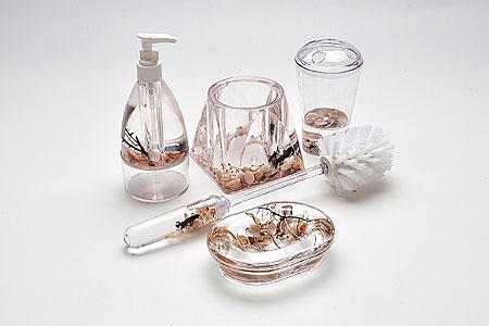 8646 Набор SK для ван.ком. Цветы(х6)68/5/2Набор для ванной с украшениямив подарочной упаковке
