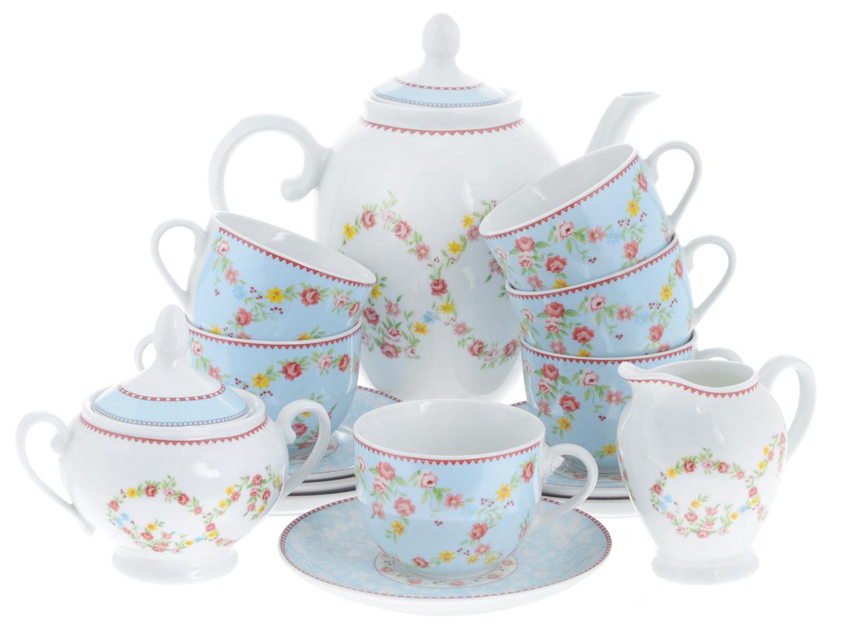 Сервиз чайный Bekker Koch, 15 предметов. BK-7143115510Сервиз чайный Bekker Koch состоит из шести чашек, шести блюдец, заварочного чайника, молочника и сахарницы, изготовленных из фарфора. Предметы набора оформлены красочным изображением цветов.Изящный дизайн придется по вкусу и ценителям классики, и тем, кто предпочитает утонченность и изысканность. Он настроит на позитивный лад и подарит хорошее настроение с самого утра. Сервиз чайный - идеальный и необходимый подарок для вашего дома и для ваших друзей в праздники, юбилеи и торжества! Он также станет отличным подарком и украшением любой кухни.Можно мыть в посудомоечной машине.Объем чашек: 220 мл.Диаметр чашек (по верхнему краю): 8,5 см.Высота чашек: 6,5 см.Диаметр блюдец (по верхнему краю): 15,4 см.Высота блюдец: 2 см.Объем сахарницы: 280 мл.Высота сахарницы (с учетом крышки): 13 см.Диаметр сахарницы (по верхнему краю): 8 см. Объем чайника: 1,1 л.Высота чайника (с учетом крышки): 23 см.Диаметр чайника (по верхнему краю): 8 см. Объем молочника: 280 мл.Высота молочника: 10,5 см.Размер молочника по верхнему краю (с учетом носика): 7 см х 5 см.