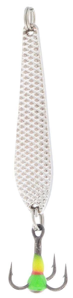 Блесна зимняя SWD, цвет: серебряный, 43 мм, 3 г03/1/12Блесна зимняя SWD - это классическая вертикальная блесна. Выполнена из высококачественного металла. Предназначена для отвесного блеснения рыбы. Блесна оснащена тройником со светонакопительной каплей.