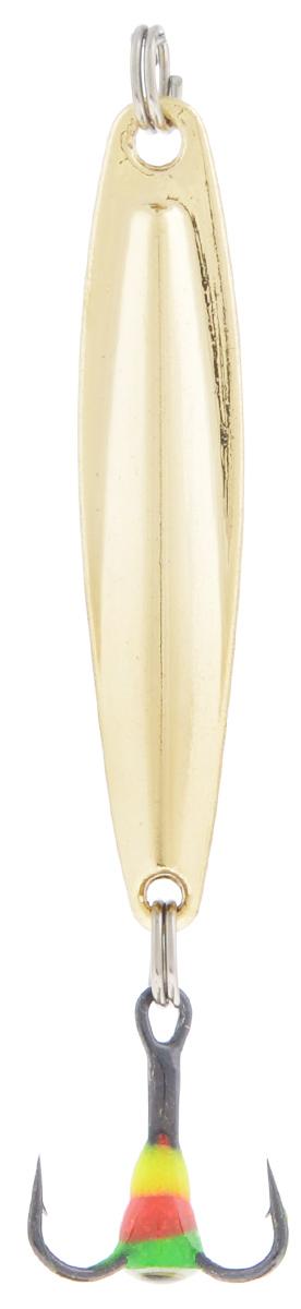 Блесна зимняя SWD, цвет: золотой, 40 мм, 3 г48235Блесна зимняя SWD - это классическая вертикальная блесна. Выполнена из высококачественного металла. Предназначена для отвесного блеснения рыбы. Блесна оснащена тройником со светонакопительной каплей.
